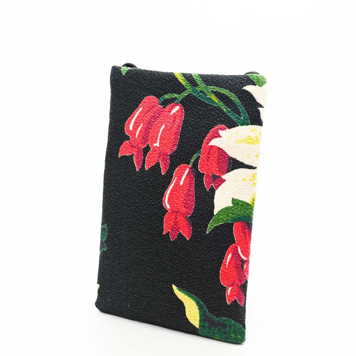 cellphone bag bellflowers on black DSC 6269
