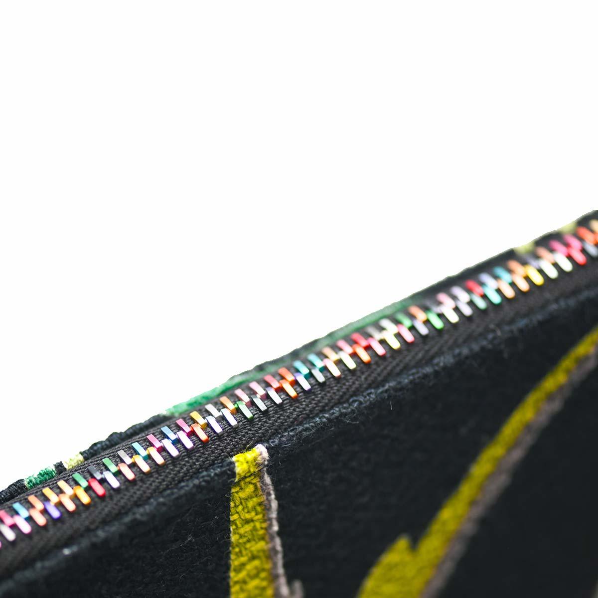 clutch bag bird motif mid century modern on black DSC 6211