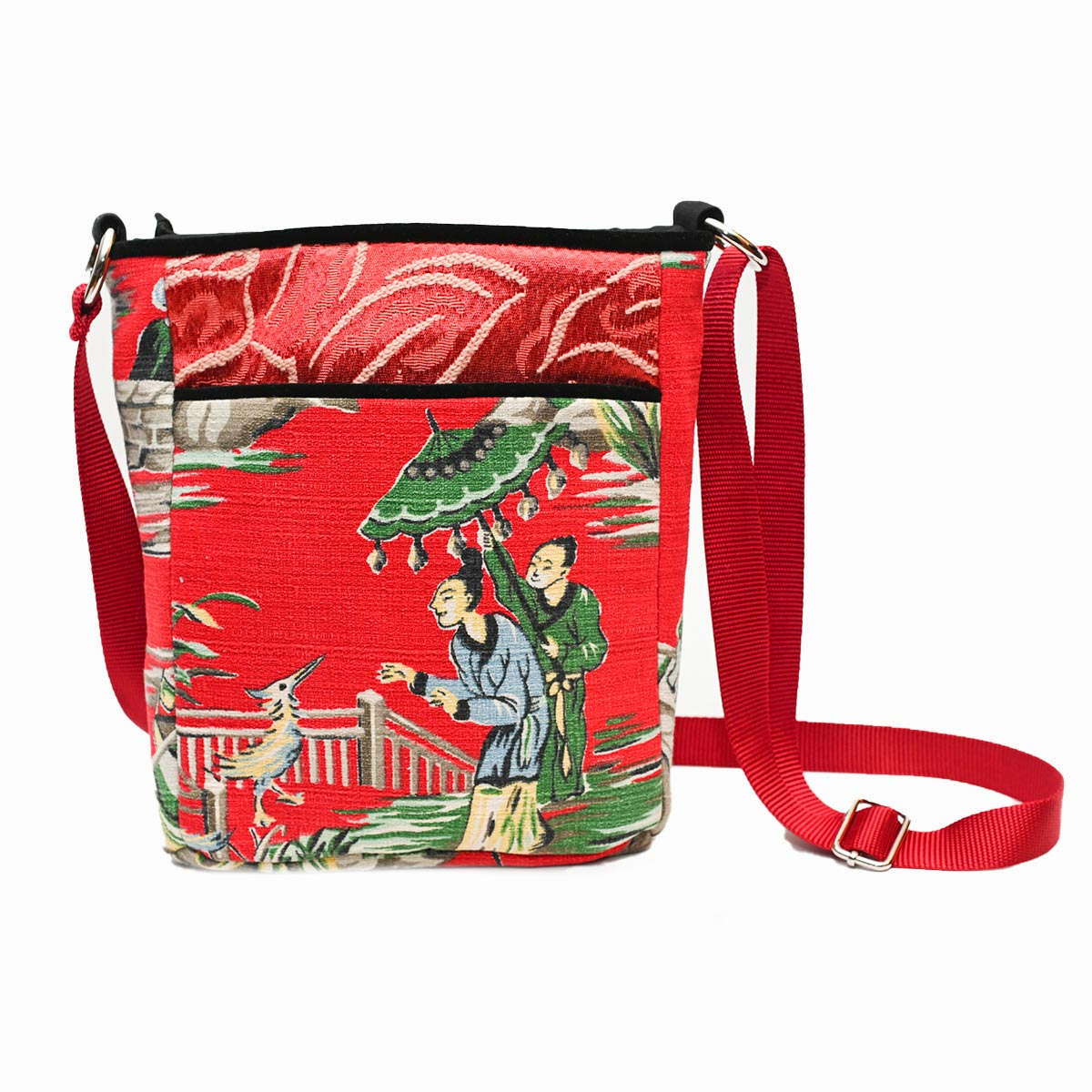 crossbody bag asian motif on cherry red DSC 6530