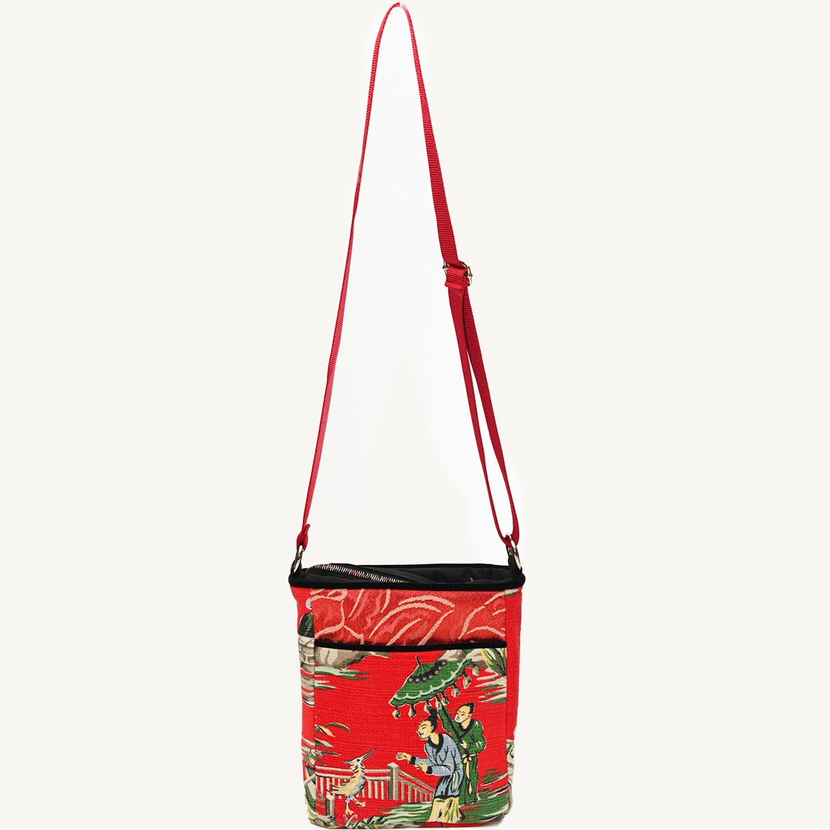 crossbody bag asian motif on cherry red DSC 6536
