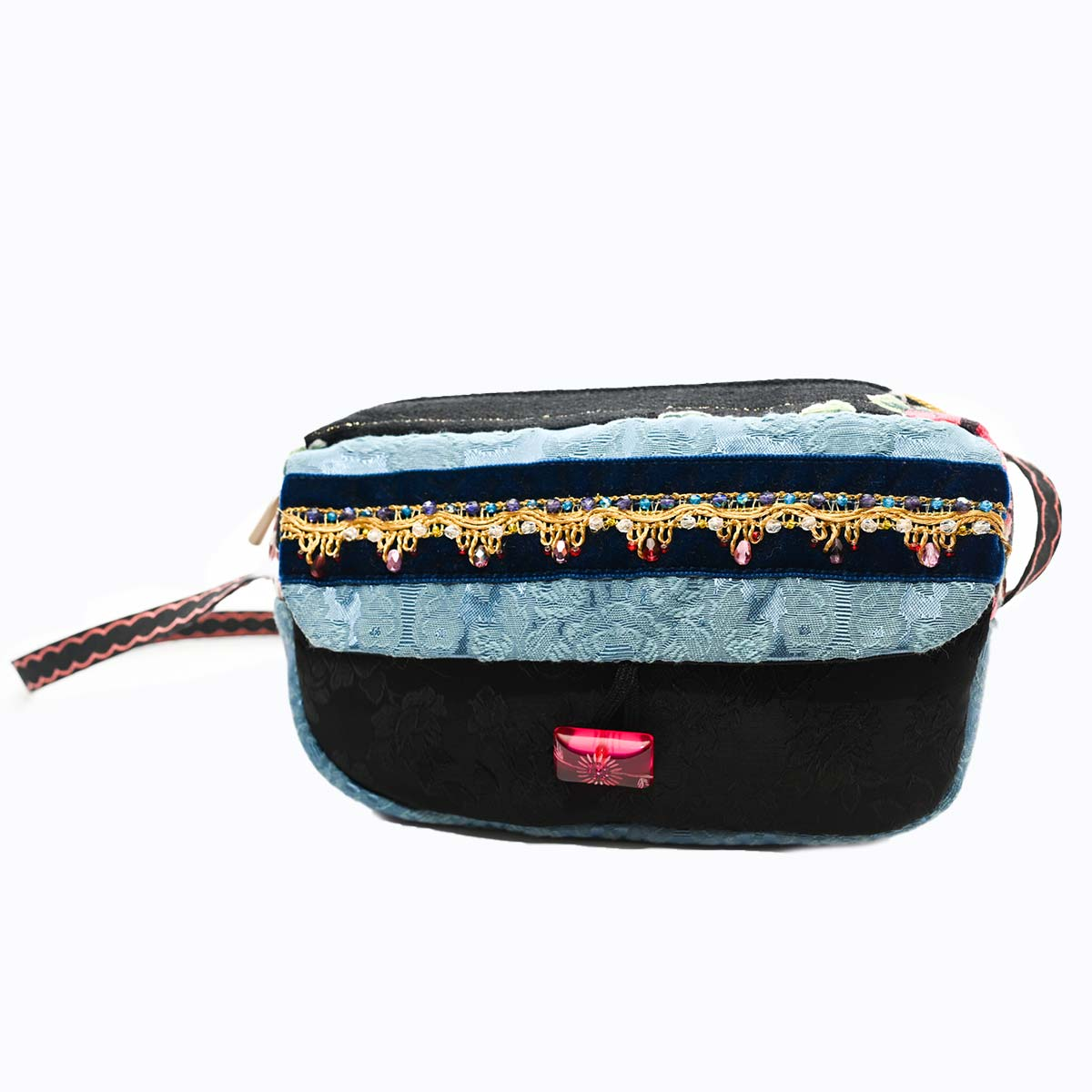 cruise bag Hand Beaded blue black