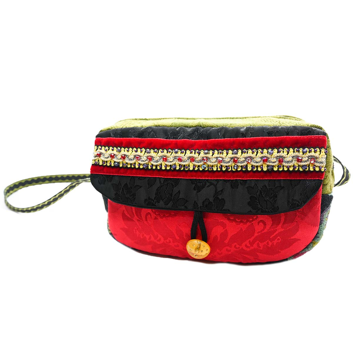 cruise bag Hand Beaded red black