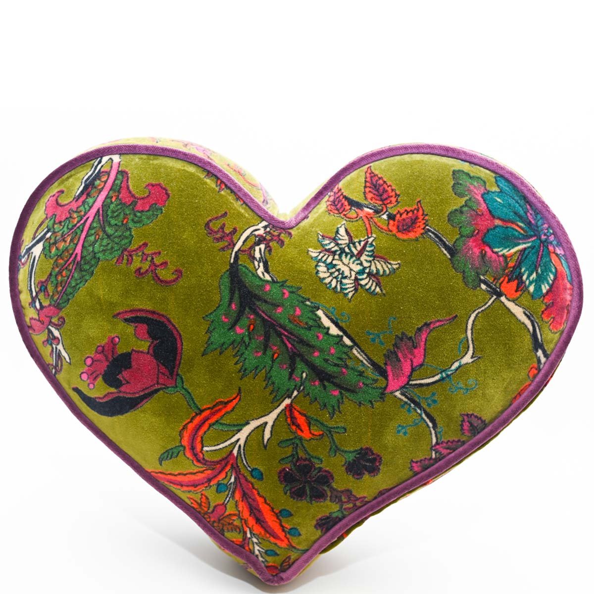heart pillow large size olive green DSC 6347