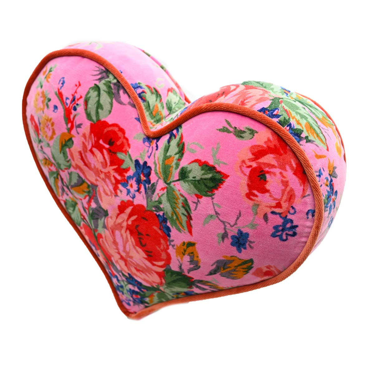heart pillow large size roses on pink DSC 6318