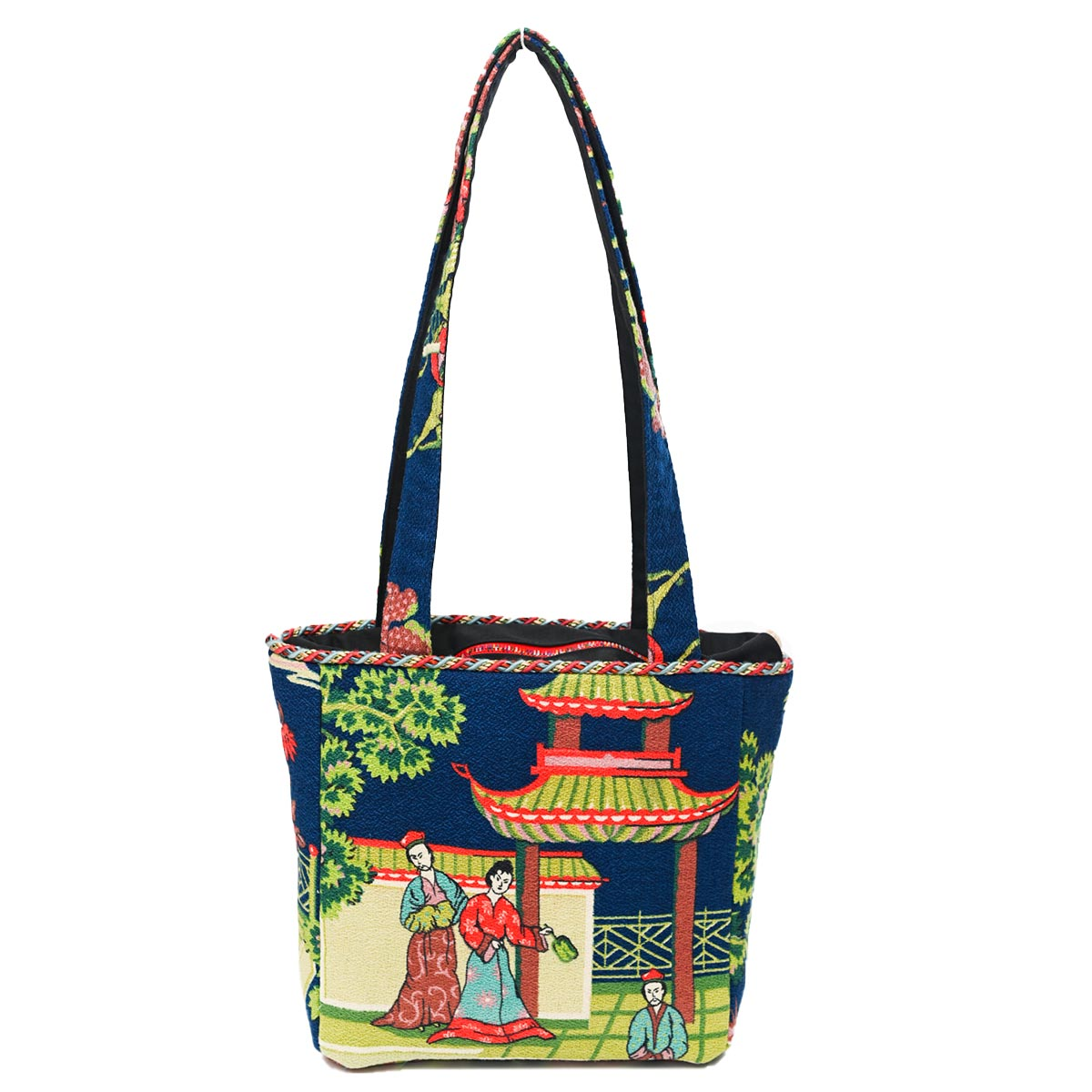 Asian Motif Square Bag