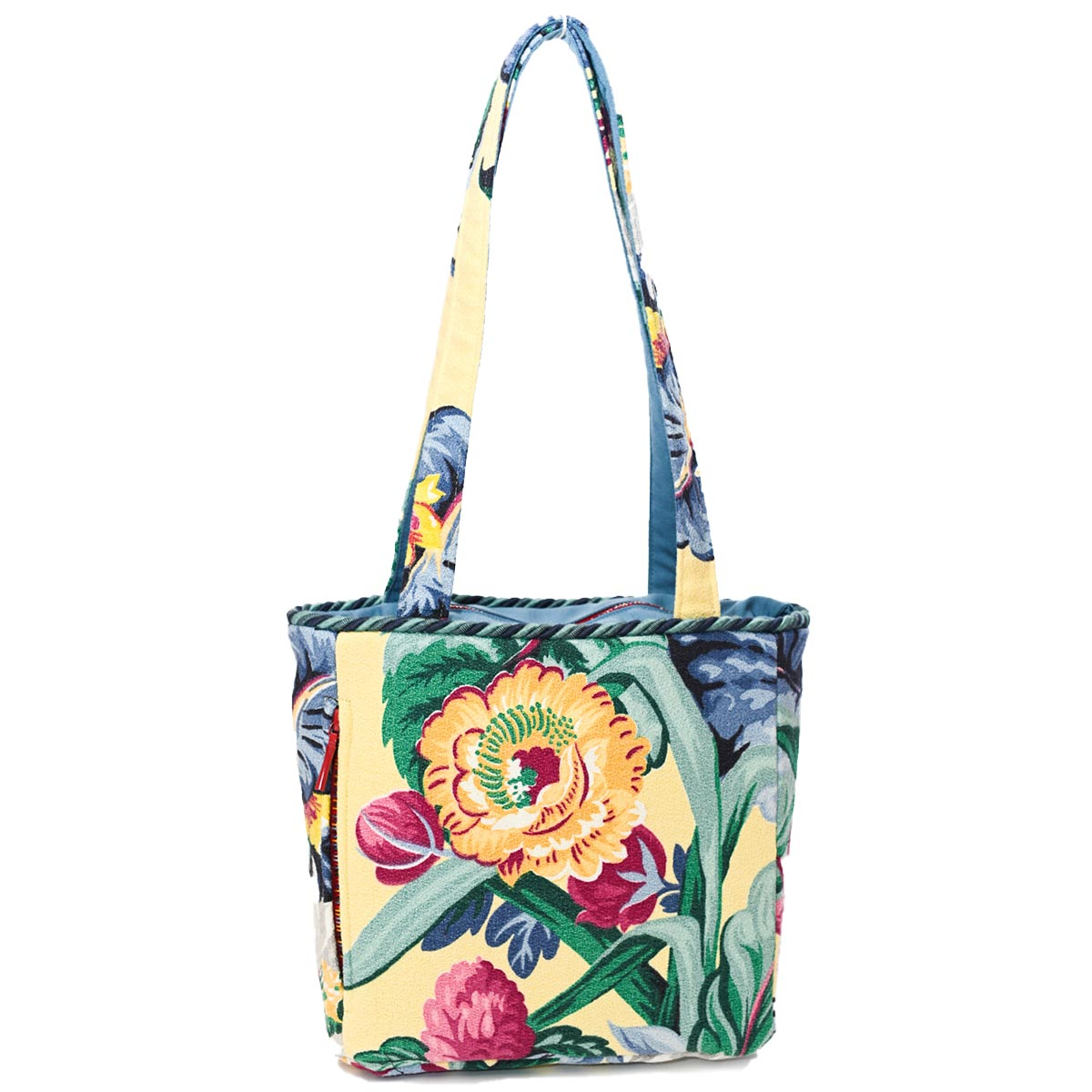 Square Bag Floral Motif on Vanilla