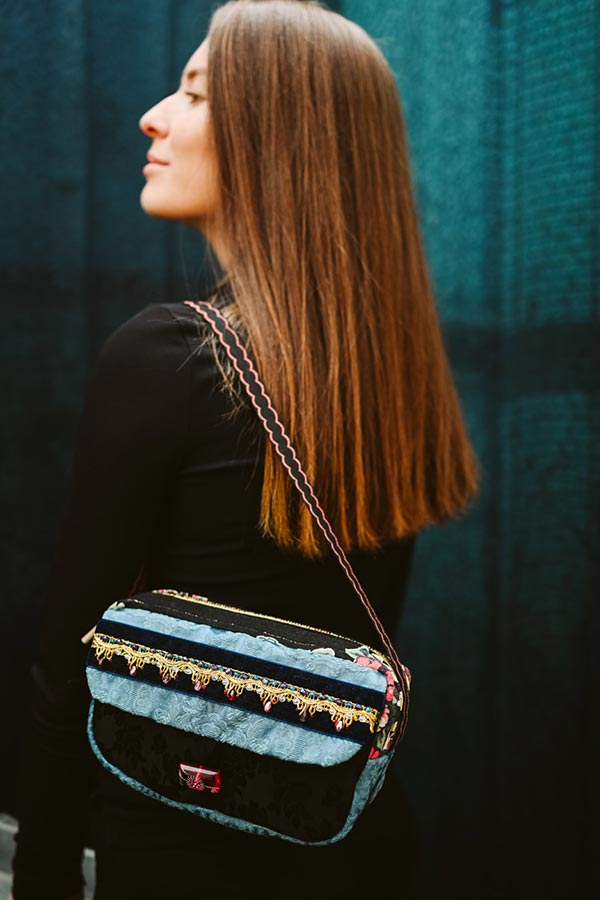 Vintage Barkcloth Custom Designer Bags 1