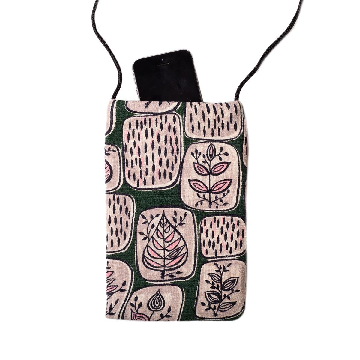 cellphone bag Abstract Botanical Motif