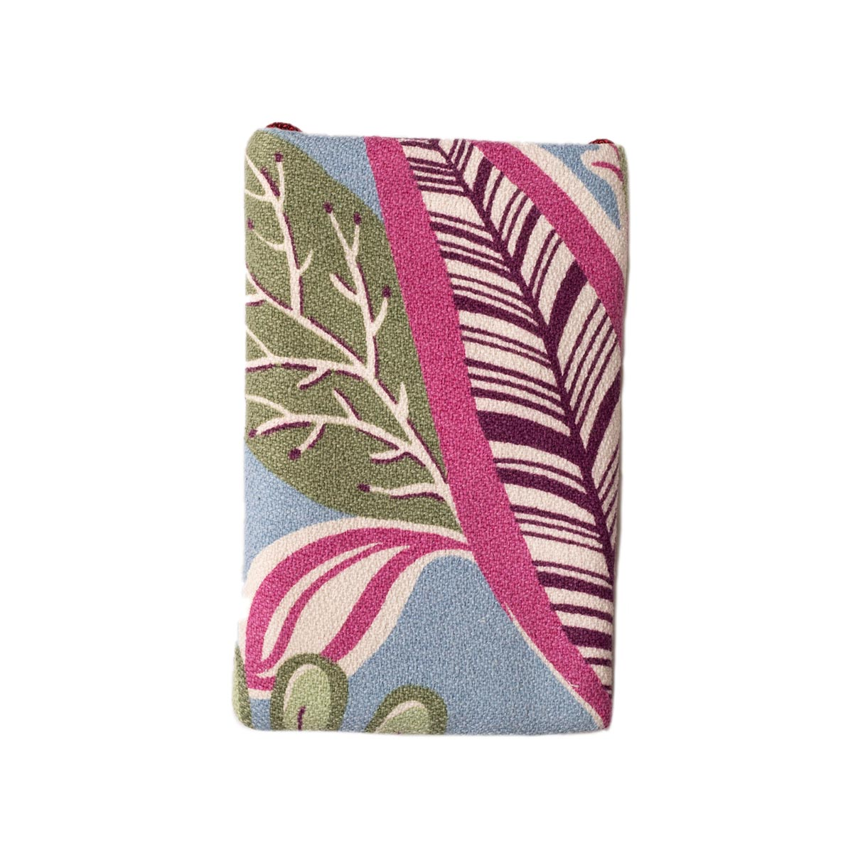 Cell Phone bag Abstract Leaves on Periwinkle
