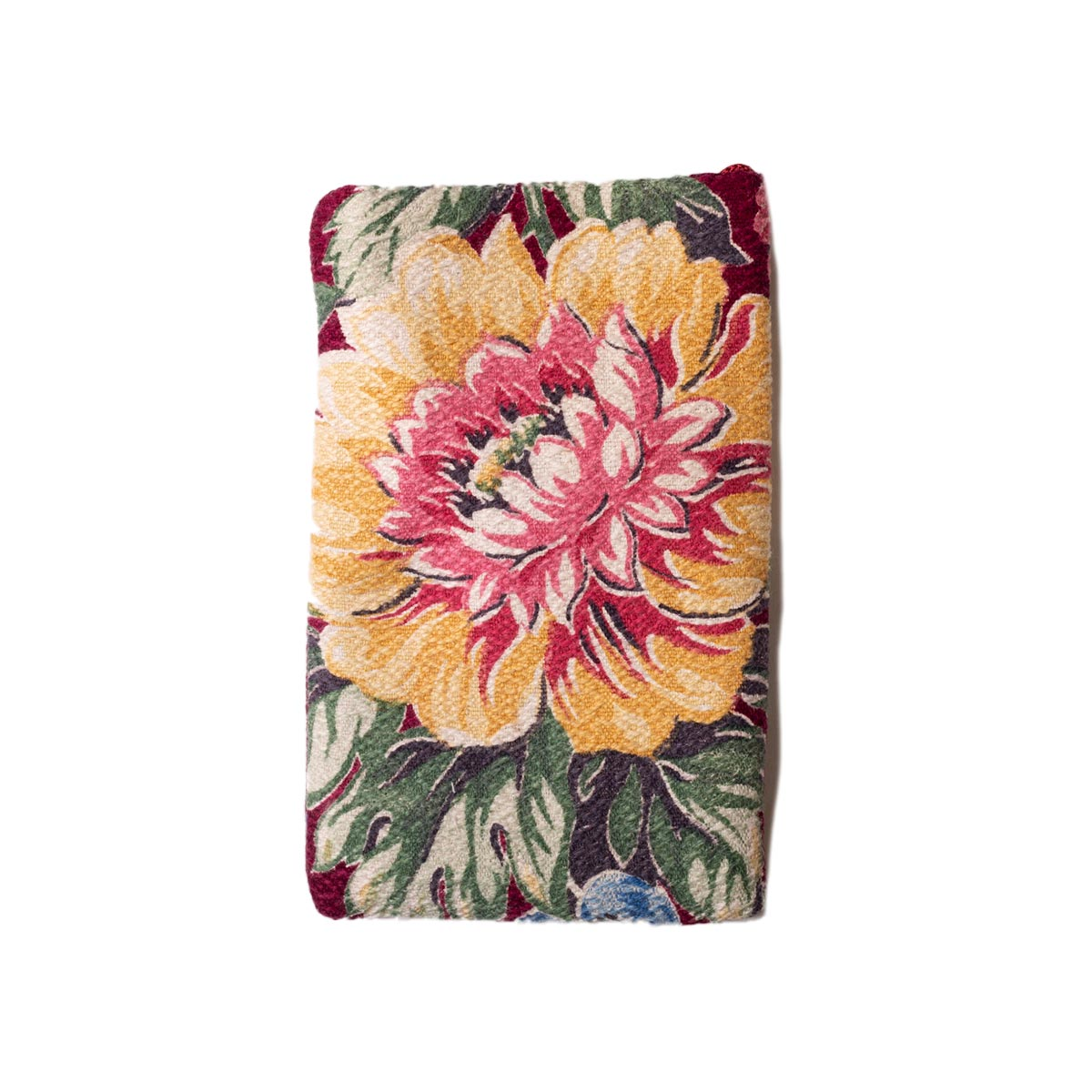 Cell Phone Bag Floral Motif on Wine Red