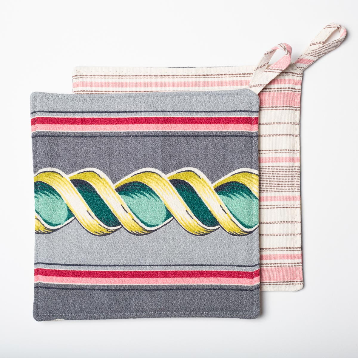 Potholders Abstract Stripe Motif