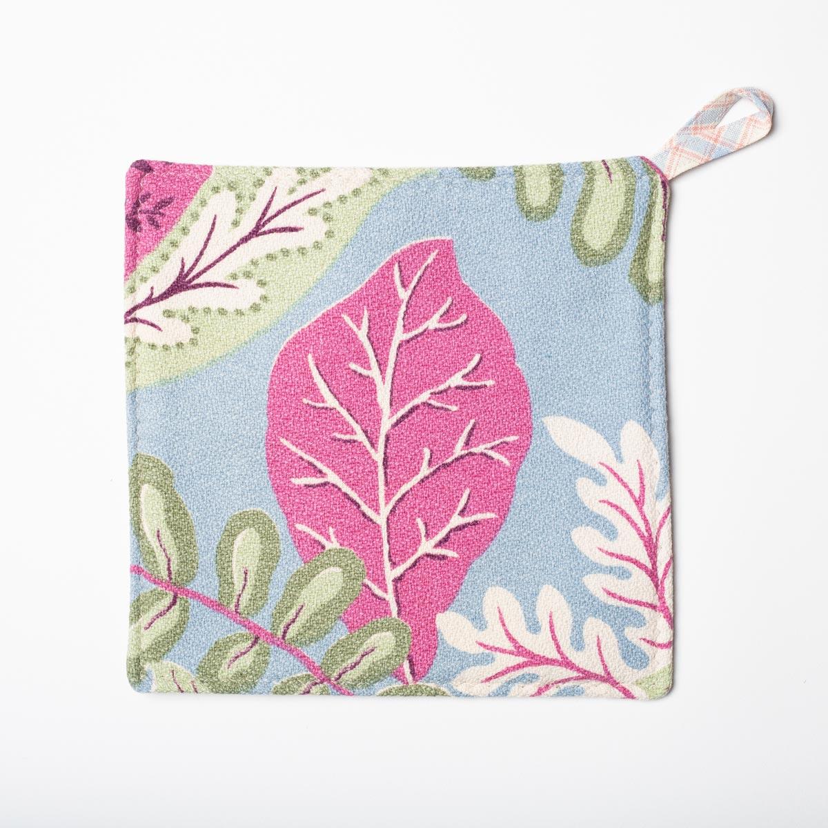 pink leaf periwinkle potholders3