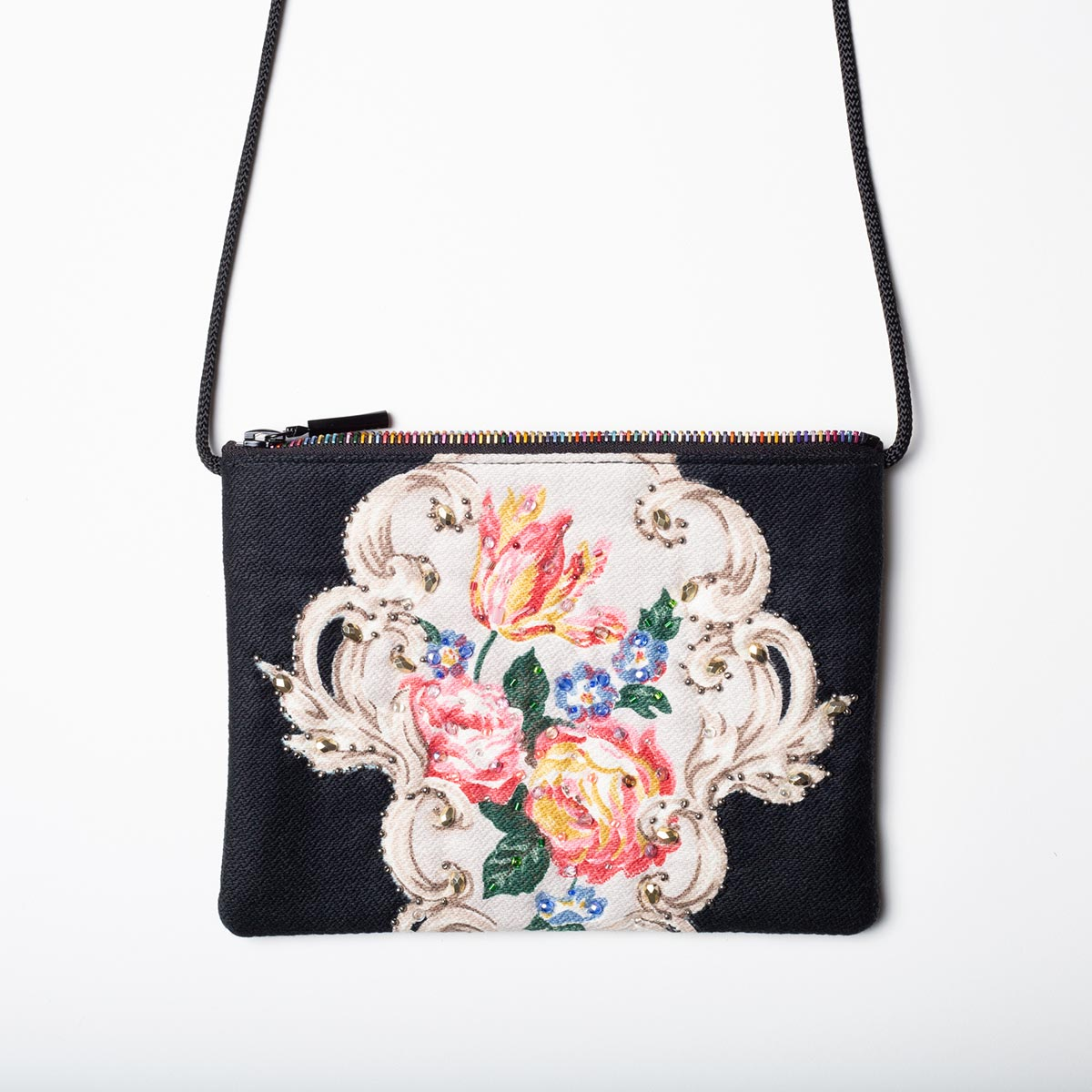 The Opera Bag – Romantic Floral on Black