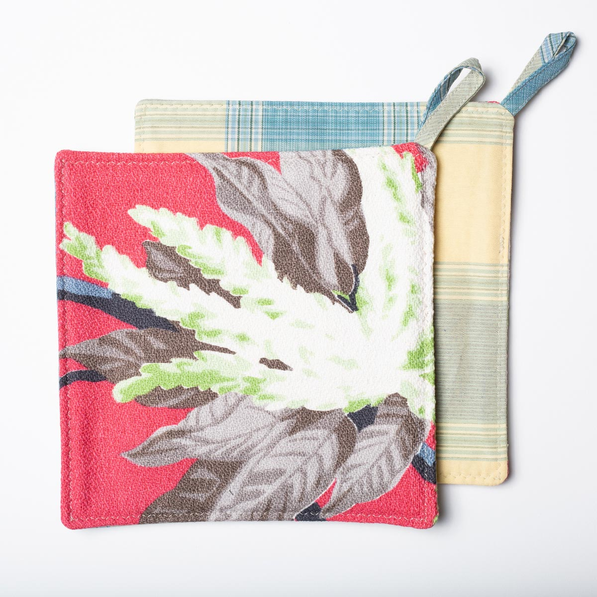Potholders – Tropical Motif Salmon