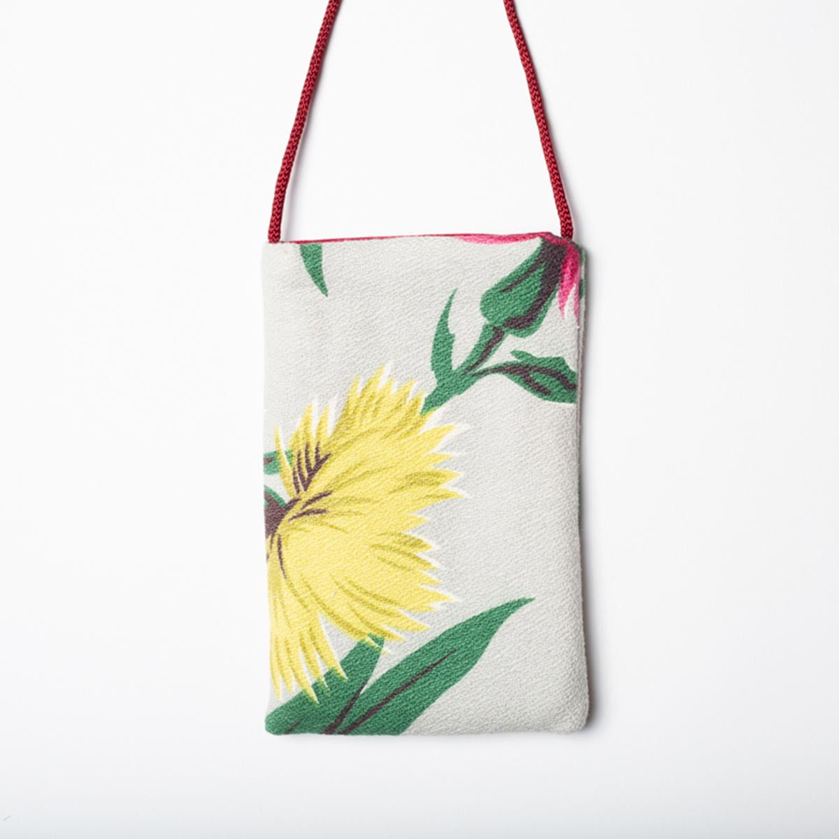 tropical mtif slate cell phone bag