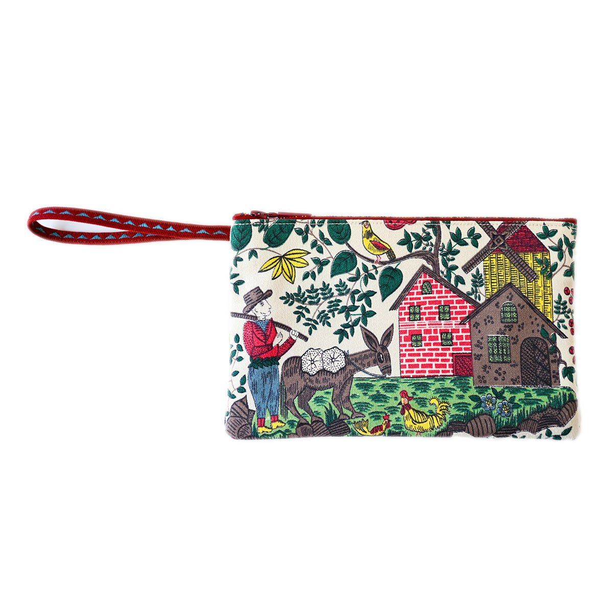 clutch bag folk art motif