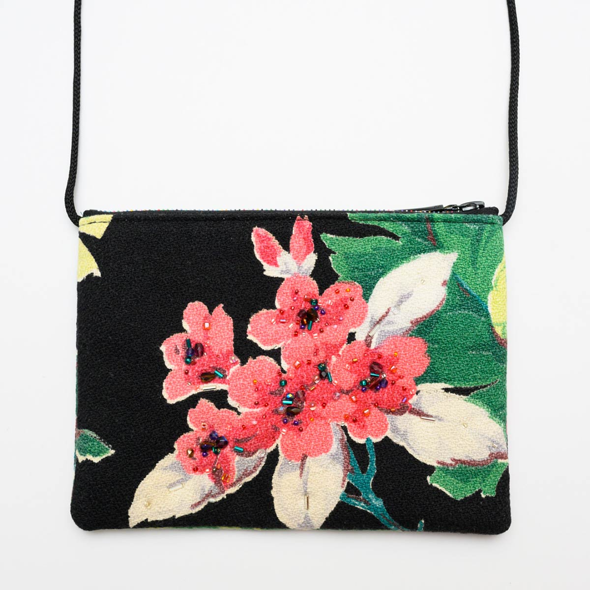 The Opera Bag – Bright floral on black
