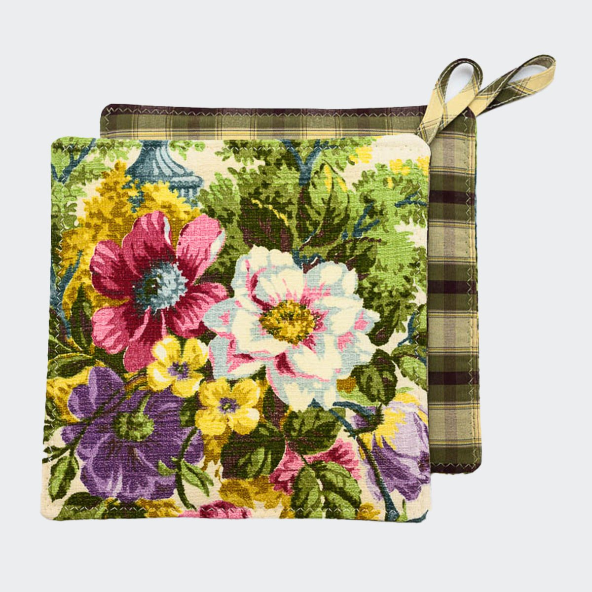 potholders spring bouquet
