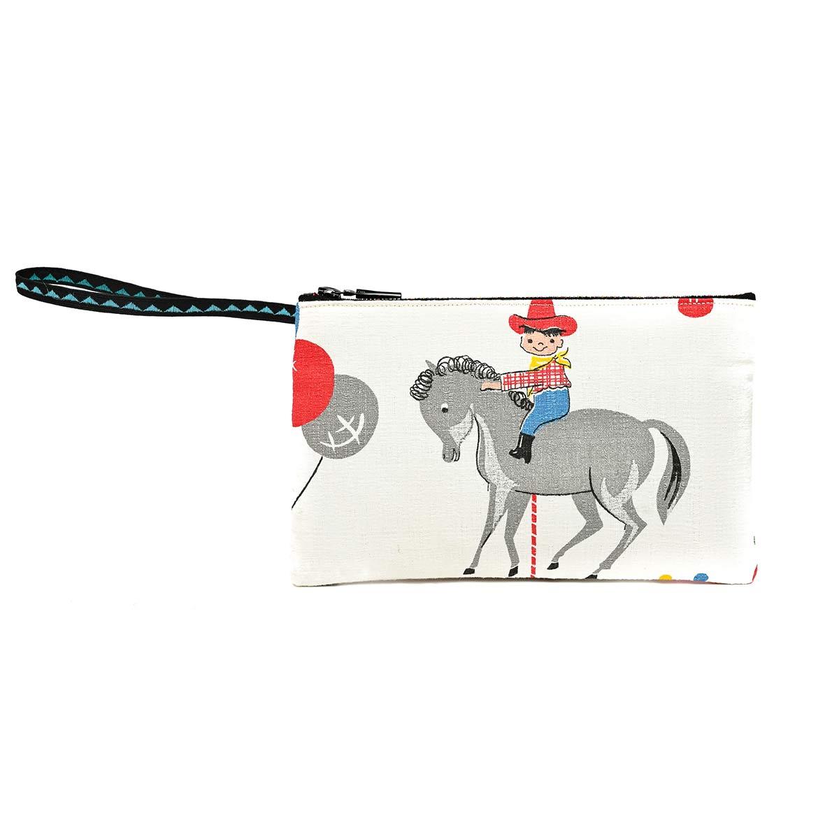 clutch bag 1950s childrens motif 1