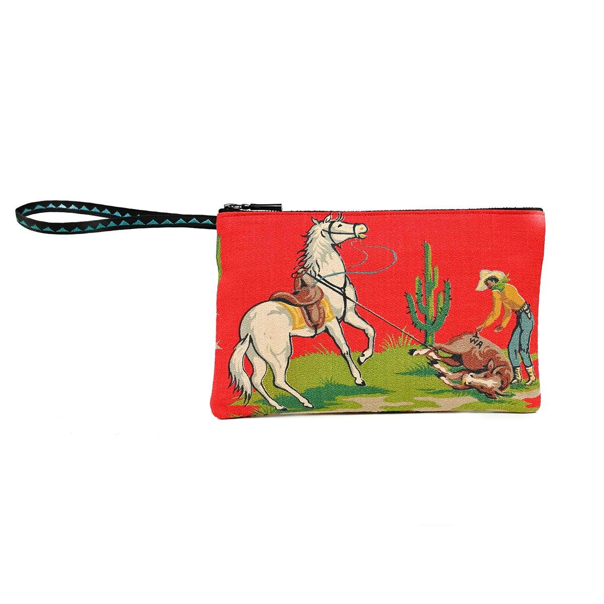 clutch bag western motif
