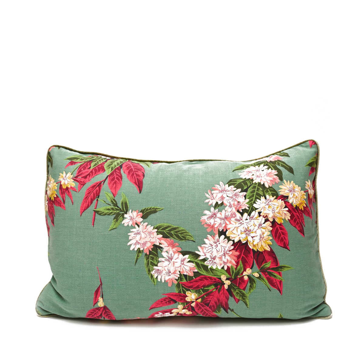 Bed Pillow Individual – Tropical Motif on Teal