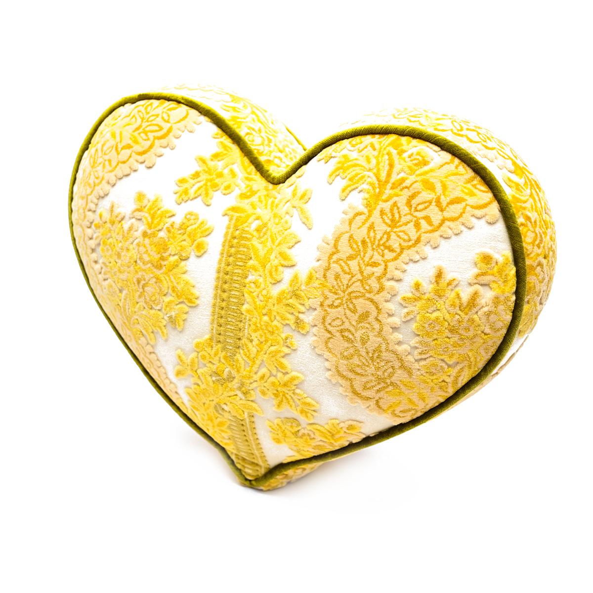 Large Heart Pillow – Lemon Wedge