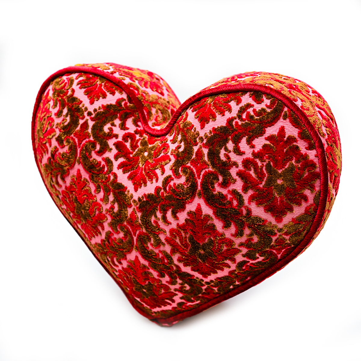 Large Heart Pillow – Lipstick Red Velvet