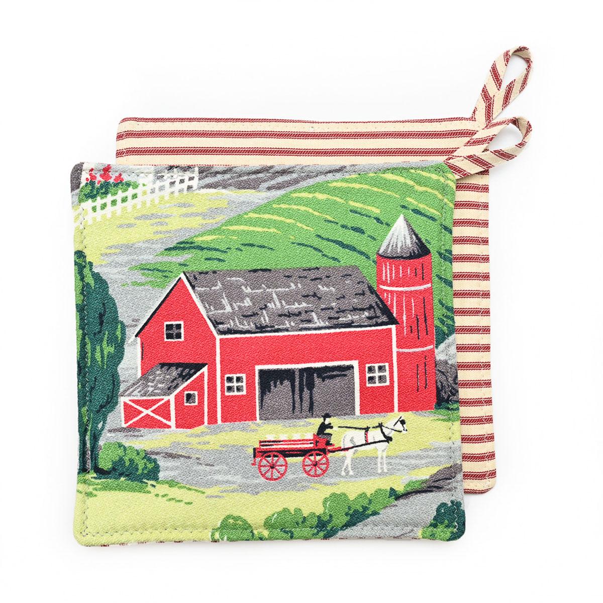Red Barn Potholders